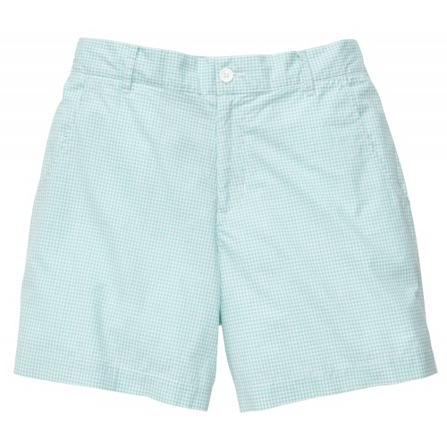 Gingham Short: Duck Egg